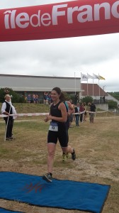 Laura's 1st open water finish line
