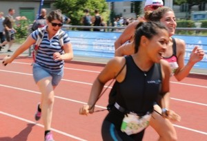 Marie Wippy Rajah - race to the finish line at the Paris Tri on 4 July 2015