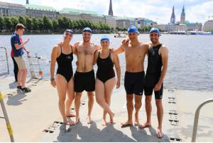 practice swim in Alster